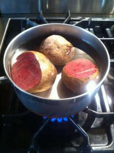 boil beets until soft