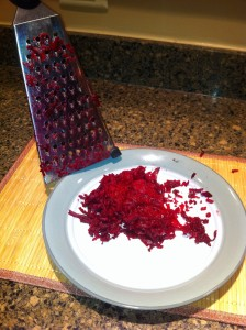 grate beets